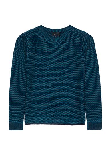 3.1 PHILLIP LIM | Wool Crochet Sweater in Teal