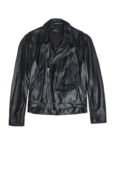 3.1 PHILLIP LIM | Lambskin Leather Moto Jacket in Black