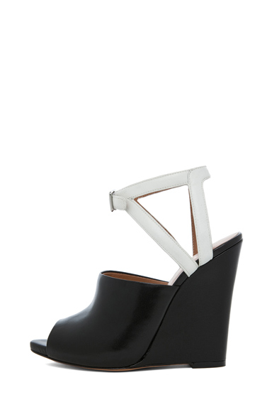 3.1 PHILLIP LIM | Juliette Leather Wedge in Black & White