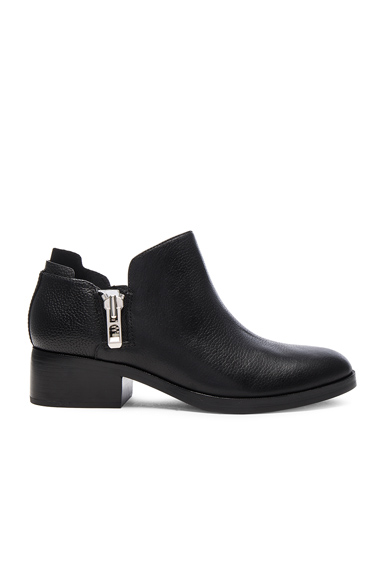 31 phillip lim Leather Alexa Ankle Booties in Black