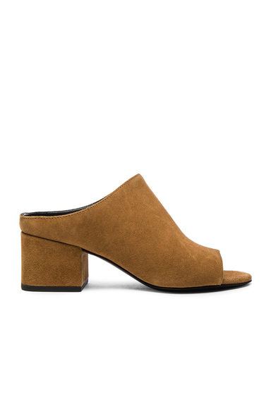 Photo of 31 phillip lim Suede Cube Heels in Brown online womens shoes sales