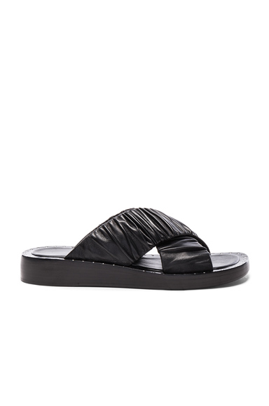 31 phillip lim Leather Nagano Slides in Black