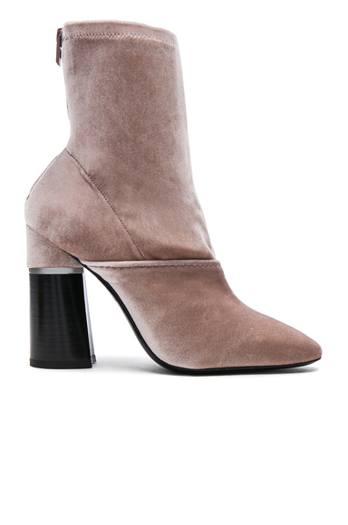 Photo of 31 phillip lim Velvet Kyoto Boots in Neutrals, Pink online womens shoes sales