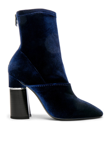 Photo of 31 phillip lim Velvet Kyoto Boots in Blue online womens shoes sales