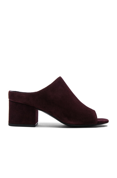 31 phillip lim Suede Cube Open Toe Slip Ons in Purple