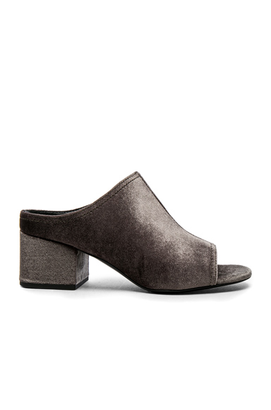 31 phillip lim Velvet Cube Open Toe Slip Ons in Gray