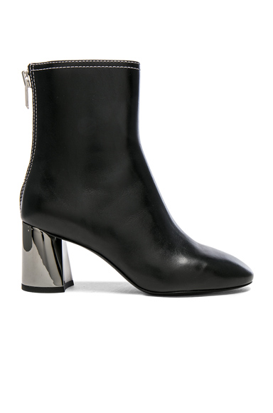 31 phillip lim Leather Drum Boots in Black