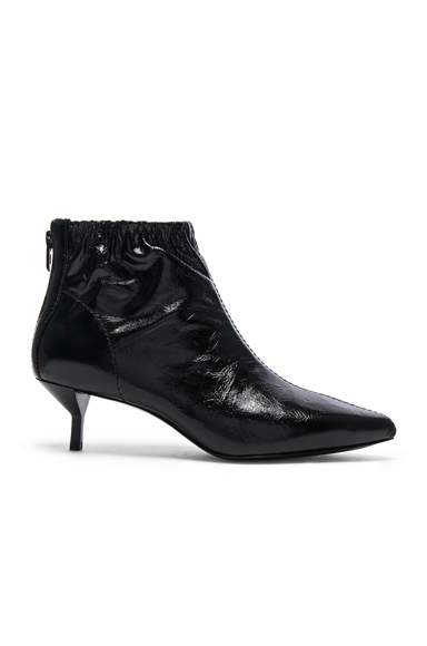31 phillip lim Leather Blitz Kitten Booties in Black
