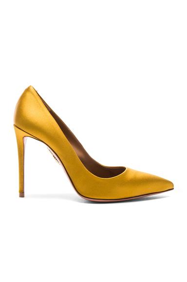 Aquazzura Satin Simply Irresistible Pumps in Yellow