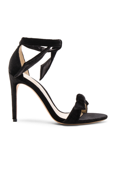 Alexandre Birman Velvet Clarita Heels in Black