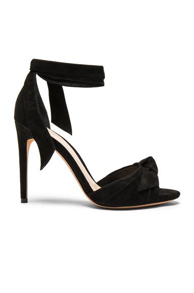 Alexandre Birman Suede New Clarita Heels in Black
