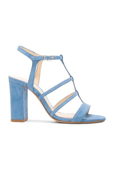 Alexandre Birman Suede Valerie Heels in Blue