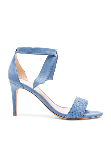 Alexandre Birman Suede Rosemarie Heels in Blue