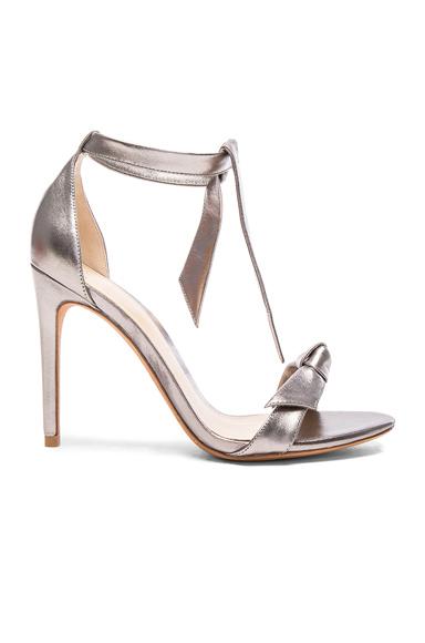 Alexandre Birman Leather Clarita Heels in Metallics