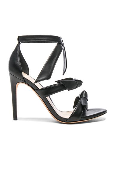 Alexandre Birman Leather Lolita Heels in Black