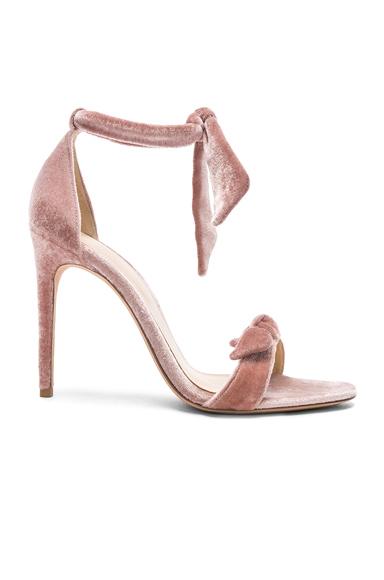 Alexandre Birman Velvet Clarita Heels in Pink