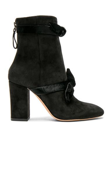 Alexandre Birman Suede Lorraine Boots in Black