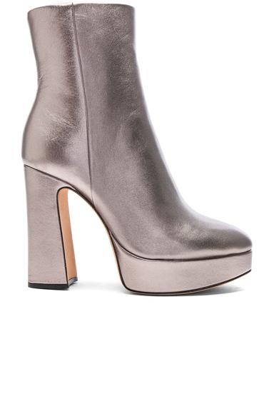 Alexandre Birman Leather Loreta Platform Boots in Metallics