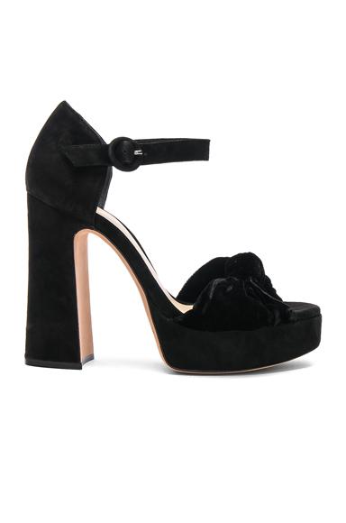 Alexandre Birman Velvet Quinn Heels in Black