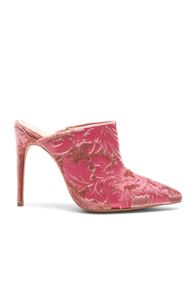 Alexandre Birman Velvet Regina Mules in Floral, Pink