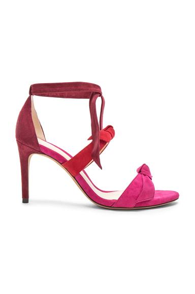 Alexandre Birman Suede Lolita Heels in Pink, Red