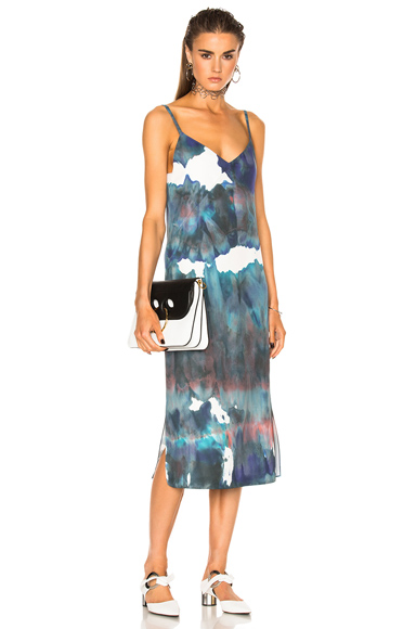 Acne Studios Sway Dress in Blue, Green, Tie Dye & Ombre