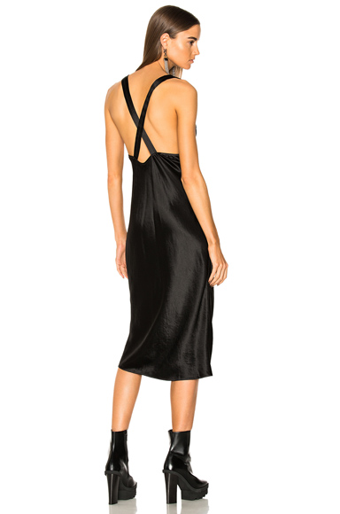 Acne Studios Delila Satin Dress in Black