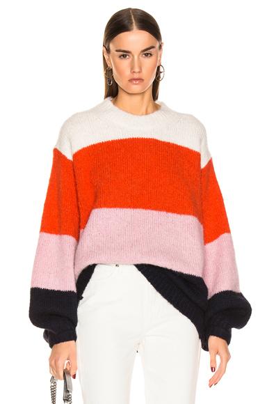 ACNE STUDIOS | Acne Studios Kazia Sweater In Blue,Pink,Stripes,Orange,White. - Size XS (Also In L,M,S) | Goxip