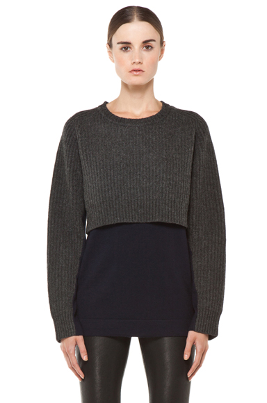 ACNE STUDIOS | Hurst Knit Sweater in Grey Melange