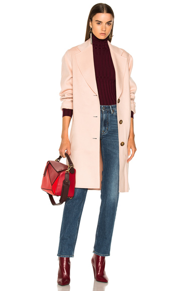 Acne Studios Landi Double Coat in Pink