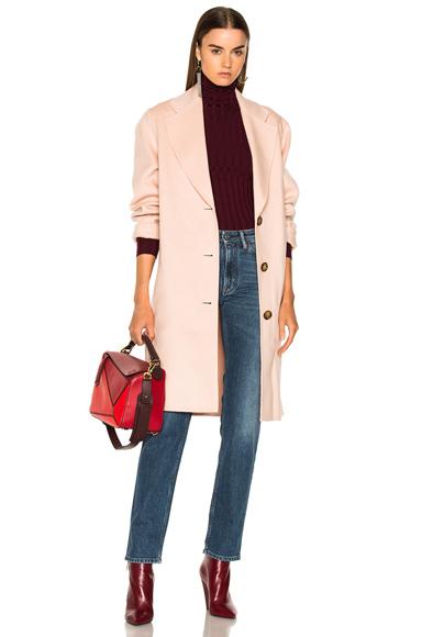 Photo of Acne Studios Landi Double Coat in Pink online womens jacket sales