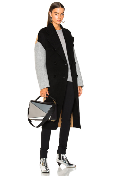 Acne Studios Cales Multi Coat in Black, Neutrals, Gray