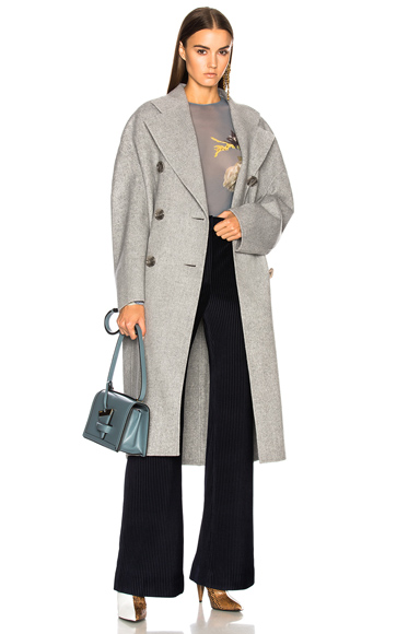 Acne Studios Cales Double Coat in Gray,36,38,40)