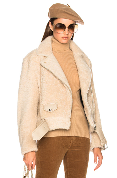 Acne Studios Merlyn Shear Jacket in Neutrals