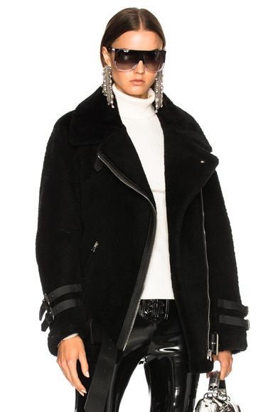 Acne Studios Velocite Shear Jacket in Black,36,40)
