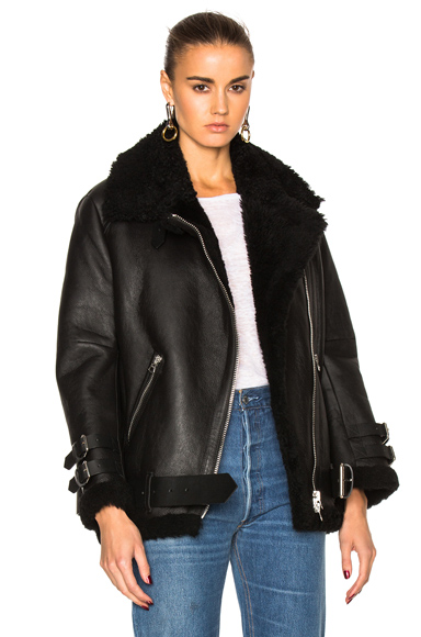 Acne Studios Velocite Leather Jacket in Black