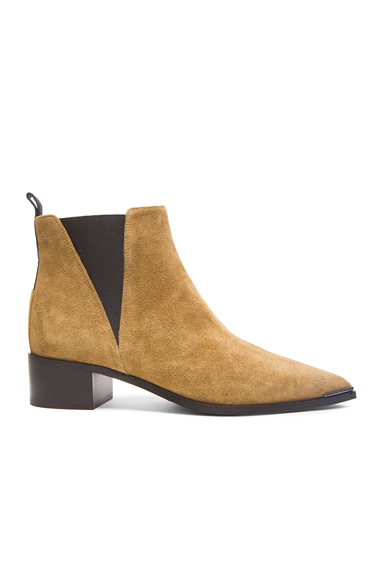 Acne Studios Suede Jensen Boots in Brown