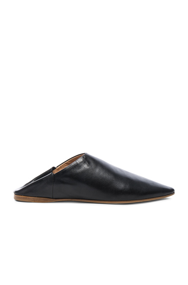 Acne Studios Leather Amina Babouche Slippers in Black