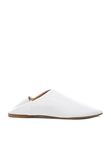 Acne Studios Leather Amina Slippers in White