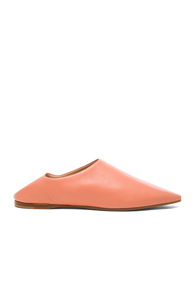 Acne Studios Leather Amina Babouche Slippers in Pink
