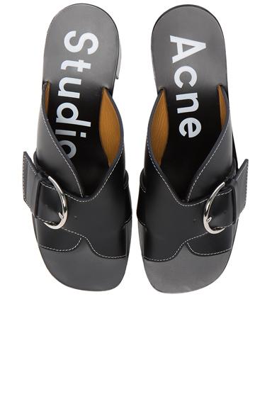 Acne Studios Leather Vikki Heels in Black