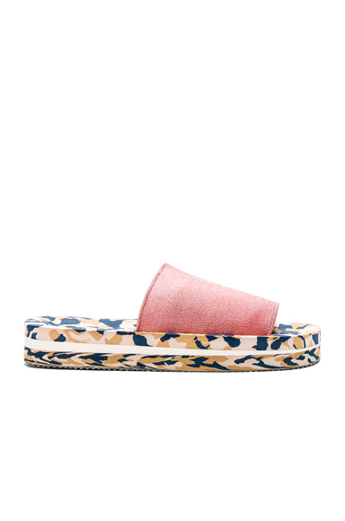 Acne Studios Elastic Tania Slides in Pink, Abstract, Neutrals