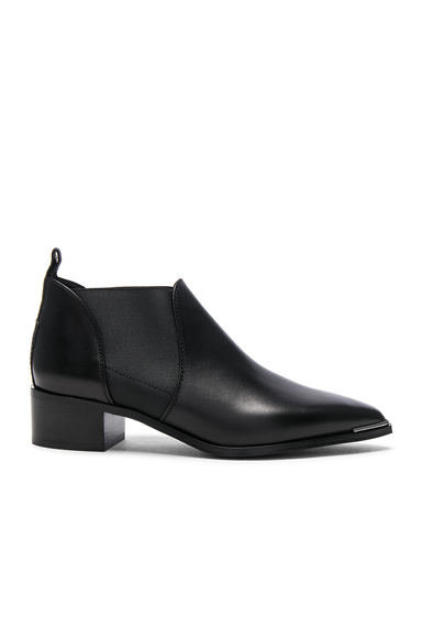 Acne Studios Leather Jenny Booties in Black