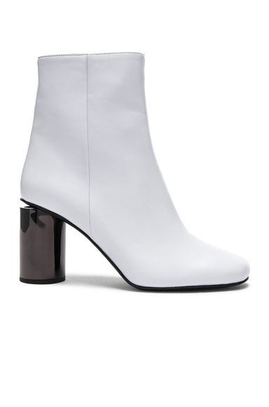 Acne Studios Leather Allis Boots in White