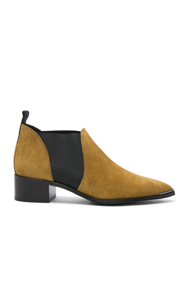 Acne Studios Suede Jenny Booties in Brown
