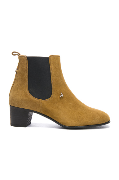 Acne Studios Suede Hely Boots in Brown