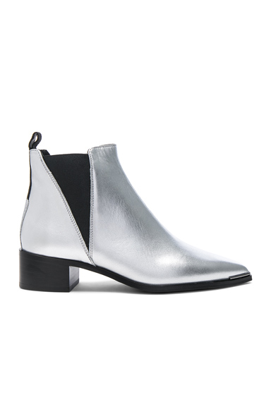 Photo of Acne Studios Jensen Leather Boots in Metallics online womens shoes sales
