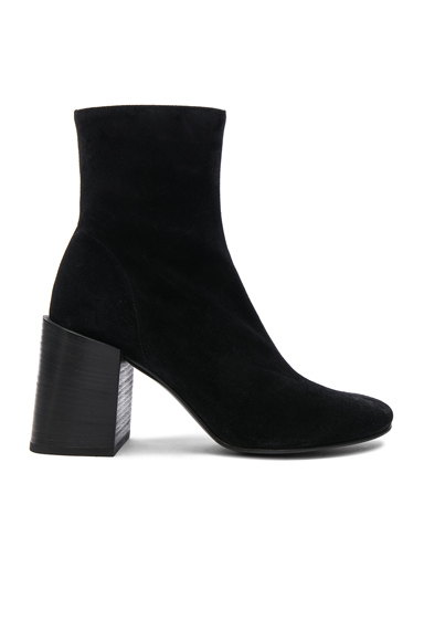 Acne Studios Saul Reverse Leather Boots in Black