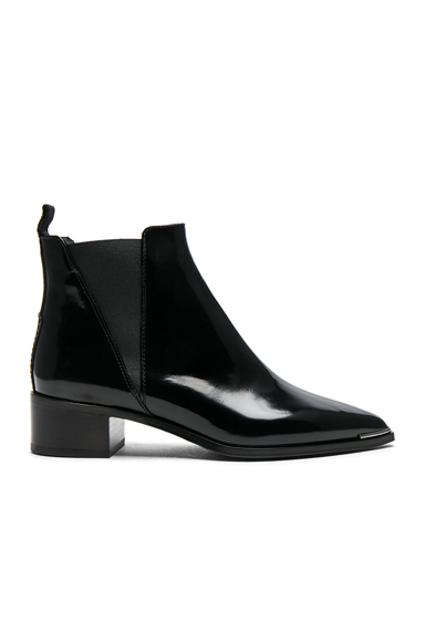 Acne Studios Leather Jensen Brush off Booties in Black