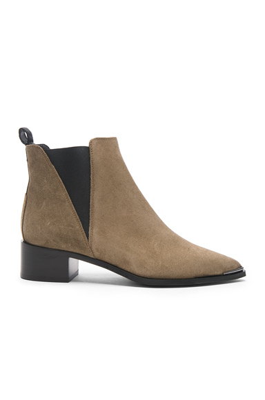 Acne Studios Suede Jensen Booties in Brown